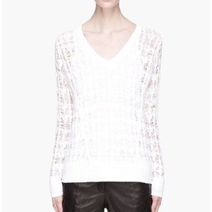 Rag & Bone White Vicky Sweater
